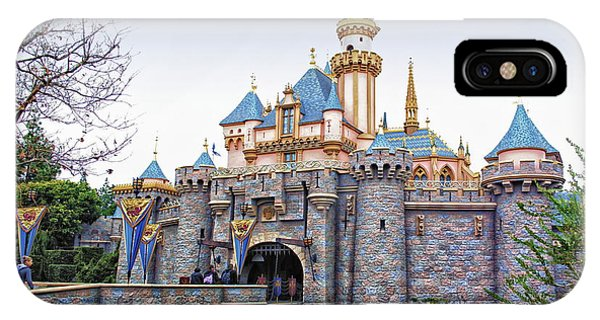 Sleeping Beauty Castle Disneyland Side View IPhone Case