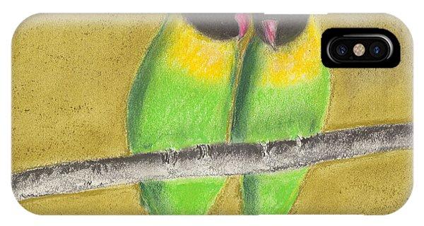 Sleeping Love Birds IPhone Case