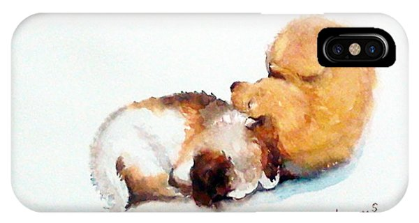 Sleeping Puppies IPhone Case