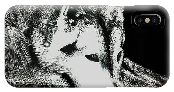 Sleeping Wolf IPhone Case