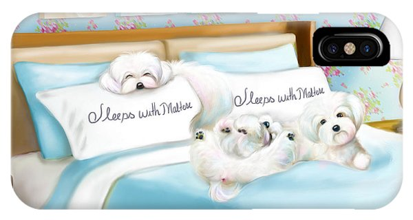 Sleeps With Maltese IPhone Case