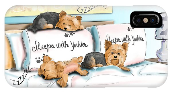 Sleeps With Yorkies IPhone Case