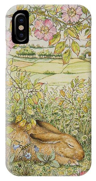 Sleepy Bunny IPhone Case