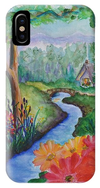 Sleepy Forest Cottage IPhone Case