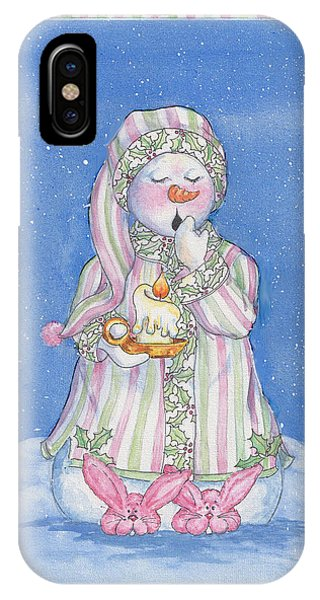 Sleepy-time Snowgal IPhone Case