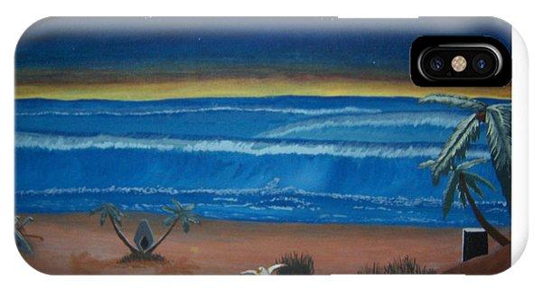 Pylon iPhone Case - Sleestak Cove Ded. 2001 by Samuel Vain