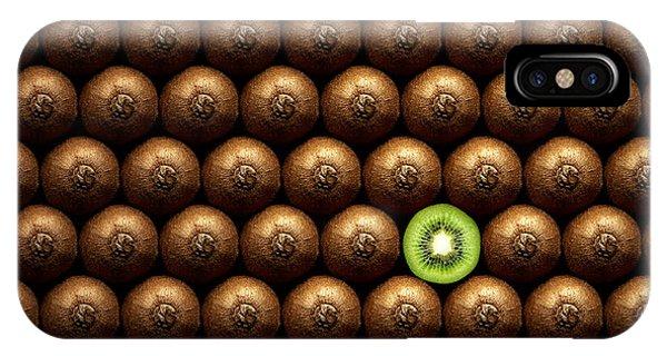Food iPhone Case - Sliced Kiwi Between Group by Johan Swanepoel