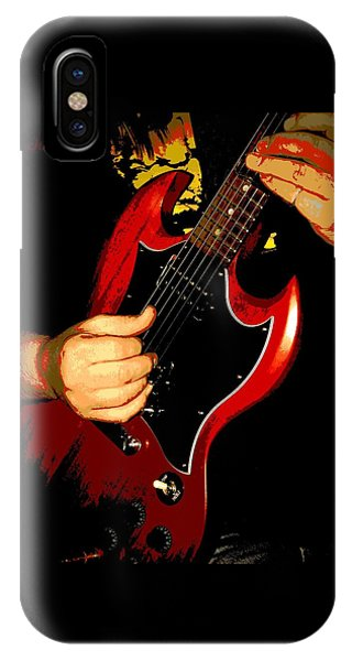 Red Gibson Guitar IPhone Case