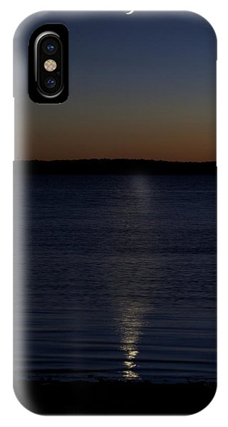 Sliver - A Crescent Moon On The Lake IPhone Case