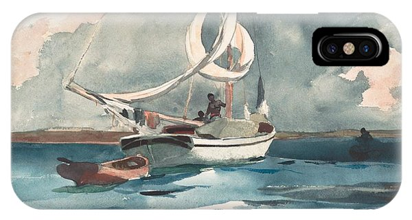 Homer iPhone Case - Sloop  Nassau Bahamas by Winslow Homer