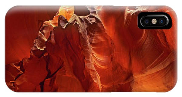 IPhone Case featuring the photograph Slot Canyon Formations In Upper Antelope Canyon Arizona by Dave Welling