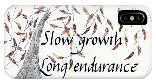 Slow Growth. Long Endurance. IPhone Case