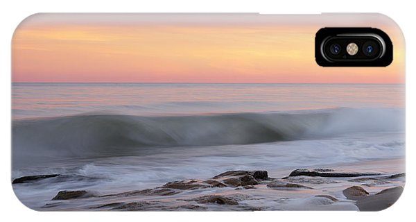 Slow Motion Wave At Colorful Sunset IPhone Case