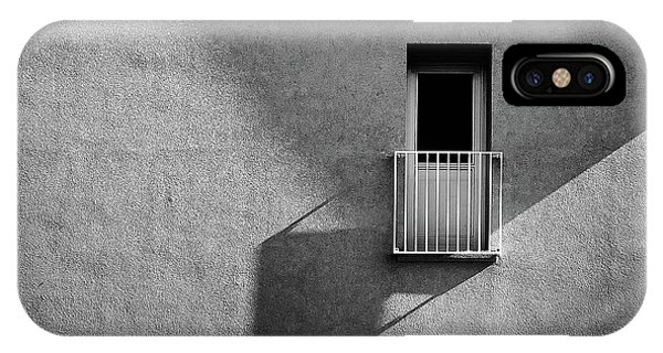Shadows iPhone Case - Small Balcony And Its Shadow by Inge Schuster
