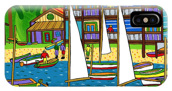Small Boat Regatta - Cedar Key IPhone Case