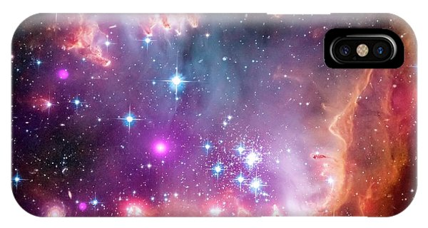 Infrared Radiation iPhone Case - Small Magellanic Cloud by Nasa/cxc/jpl-caltech/stsci