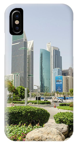 Condo iPhone Case - Small Park And Downtown Skyline by Michael Defreitas