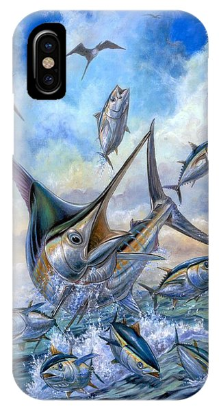 Small Tuna And Blue Marlin Jumping IPhone Case