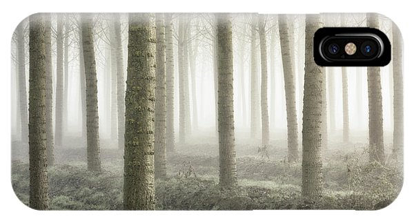 Fog iPhone Case - Small Woodland by Fiorenzo Carozzi