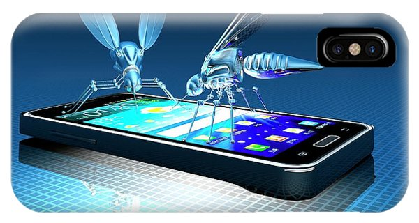 Smartphone With Nano Bugs Phone Case by Victor Habbick Visions