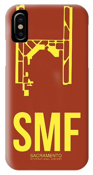 Sacramento iPhone X Case - Smf Sacramento Airport Poster 1 by Naxart Studio