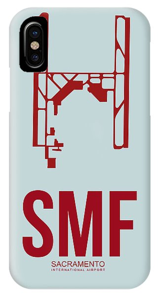 Sacramento iPhone X Case - Smf Sacramento Airport Poster 2 by Naxart Studio