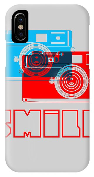 Quote iPhone Case - Smile Camera Poster by Naxart Studio