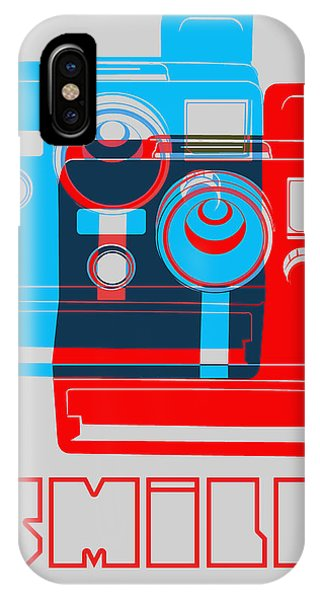 Witty iPhone Case - Smile Polaroid Poster by Naxart Studio