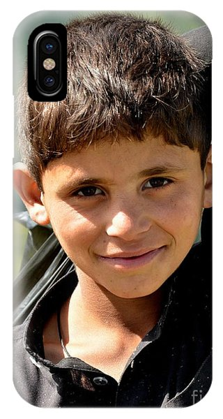 Smiling Boy In The Swat Valley - Pakistan IPhone Case