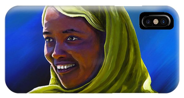 Lupita iPhone Case - Smiling Lady by Anthony Mwangi