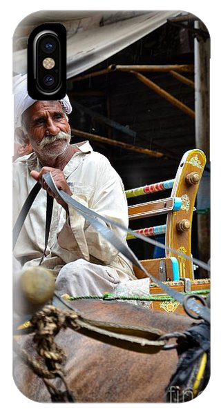 Smiling Man Drives Horse Carriage In Lahore Pakistan IPhone Case