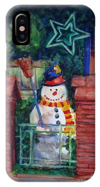 Smiling Snowman 1 IPhone Case