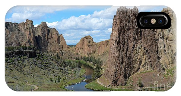 IPhone Case featuring the photograph Smith Rocks by Jeff Loh