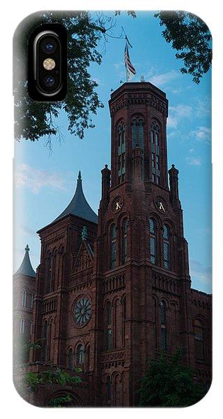 Smithsonian iPhone Case - Smithsonian Castle Dawn by Steve Gadomski