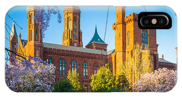 Smithsonian iPhone Case - Smithsonian Castle by Inge Johnsson