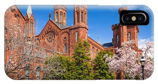 Smithsonian iPhone Case - Smithsonian Castle Wall by Inge Johnsson