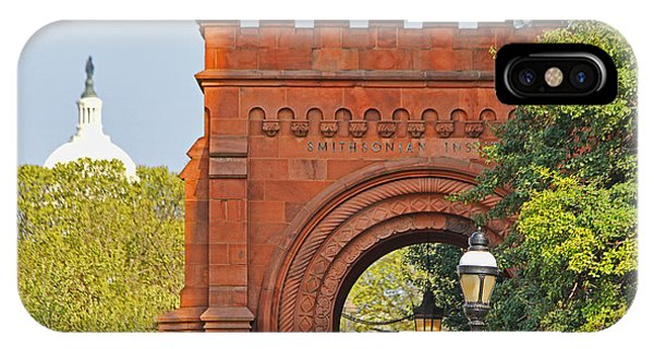 Smithsonian iPhone Case - Smithsonian Entrance 1136 by Jack Schultz