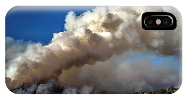 Smoke Column From The Norbeck Prescribed Fire. IPhone Case