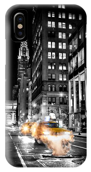 Chrysler Building iPhone Case - Smoking Streets Of New York  by Az Jackson