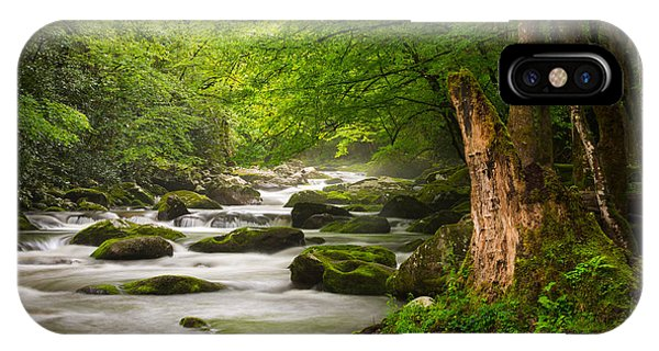 Smoky Mountains Solitude - Great Smoky Mountains National Park IPhone Case