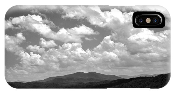 Smoky Peaks And Sky 2 IPhone Case