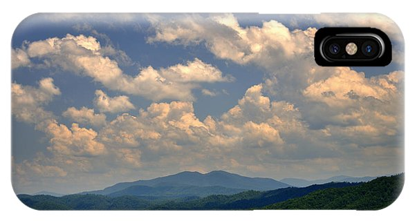 Smoky Peaks And Sky IPhone Case