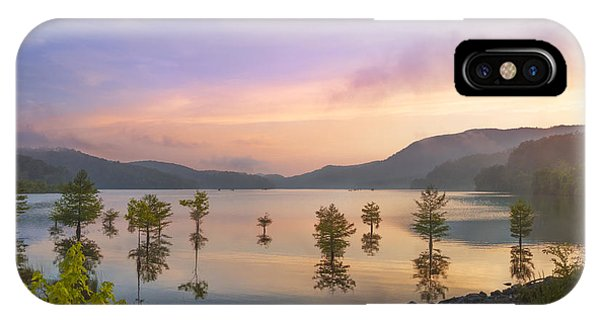 Chilhowee iPhone Case - Smoky Sunset by Debra and Dave Vanderlaan