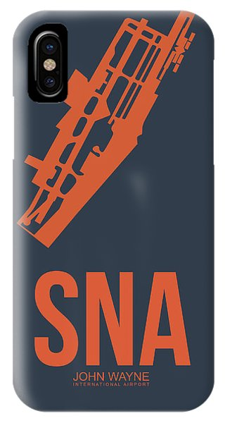Fruit iPhone Case - Sna Orange County Airport Poster 1 by Naxart Studio
