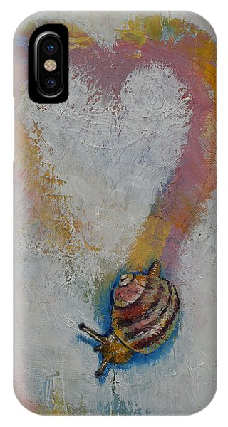 Shell Texture iPhone Case - Snail by Michael Creese