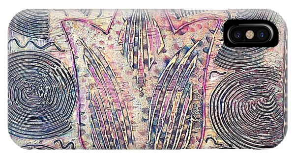 Alfredo Garcia iPhone Case - Snakes By The Tulip By Alfredo Garcia Art - Original Mixed Media Modern Abstract by Alfredo Garcia