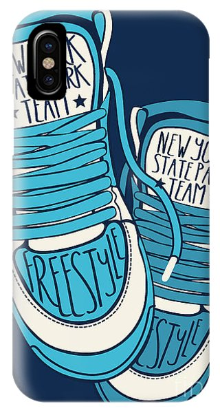 Clothing iPhone Case - Sneakers Graphic Design For Tee by Braingraph