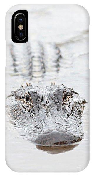 Sneaky Swamp Gator IPhone Case