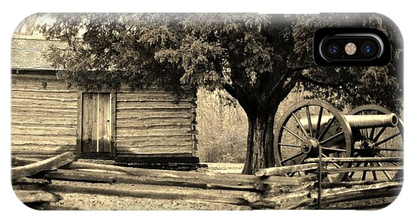 Snodgrass Cabin And Cannon IPhone Case