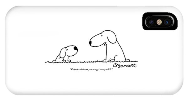 Dog Talks To Puppy About Being Cute IPhone Case